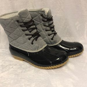 Quilted Fleece Lined Boots